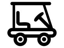 Εικόνα σκιαγραφιών ενός εικονιδίου κάρρων γκολφ ελεύθερη απεικόνιση δικαιώματος