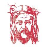Εικόνα σκιαγραφιών του Ιησούς Χριστού Pastiche Διανυσματική απεικόνιση