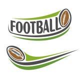 Εικόνα στο θέμα αμερικανικού ποδοσφαίρου Στοκ εικόνα με δικαίωμα ελεύθερης χρήσης
