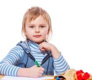 Εικόνα σχεδίων κοριτσιών Στοκ εικόνα με δικαίωμα ελεύθερης χρήσης