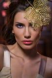 Εικόνα τάσης μόδας, το κορίτσι με τα μπλε μάτια Στοκ εικόνες με δικαίωμα ελεύθερης χρήσης