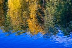 Εικόνα της αντανάκλασης των δέντρων φθινοπώρου στο νερό στοκ εικόνα με δικαίωμα ελεύθερης χρήσης