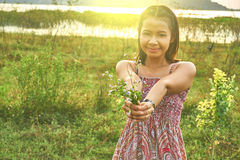 Εικόνα της ασιατικής όμορφης γυναίκας Στοκ εικόνα με δικαίωμα ελεύθερης χρήσης