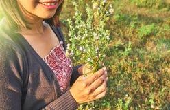 Εικόνα της ασιατικής όμορφης γυναίκας Στοκ εικόνες με δικαίωμα ελεύθερης χρήσης