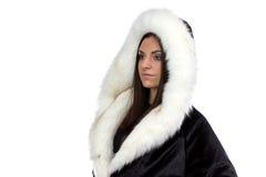 Εικόνα της γυναίκας στο παλτό γουνών Στοκ εικόνα με δικαίωμα ελεύθερης χρήσης