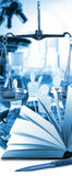 Εικόνα της μικροβιολογικής και κινηματογράφησης σε πρώτο πλάνο ιατρικού εξοπλισμού Στοκ Εικόνα