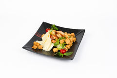 Εικόνα της νόστιμης cesar σαλάτας με τις γαρίδες Στοκ Εικόνες