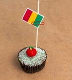 Εικόνα της σημαίας του Μαλί σε ένα cupcake Στοκ Φωτογραφία