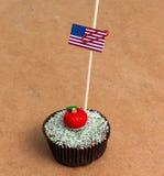 Εικόνα της σημαίας των ΗΠΑ σε ένα cupcake Στοκ φωτογραφία με δικαίωμα ελεύθερης χρήσης