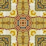 Εικόνα της χαρασμένης χρυσής διακόσμησης Στοκ φωτογραφίες με δικαίωμα ελεύθερης χρήσης