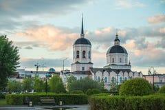 Εικόνα της χριστιανικής εκκλησίας στο Τομσκ Ρωσία στοκ φωτογραφίες με δικαίωμα ελεύθερης χρήσης