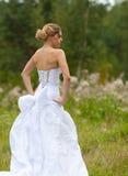 Εικόνα της όμορφης νύφης στο άσπρο γαμήλιο φόρεμα στοκ φωτογραφία με δικαίωμα ελεύθερης χρήσης