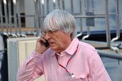 Bernie Ecclestone, προϊστάμενος της διαχείρισης Formula 1 στοκ φωτογραφία με δικαίωμα ελεύθερης χρήσης