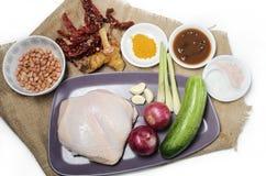 Εικόνα της satay πιατέλας προετοιμασιών κοτόπουλου στοκ φωτογραφία με δικαίωμα ελεύθερης χρήσης