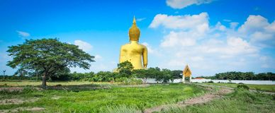 Εικόνα του Βούδα στο ναό Angthong, επαρχία Angthong, Ταϊλάνδη στοκ φωτογραφία με δικαίωμα ελεύθερης χρήσης