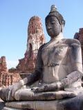 Εικόνα του Βούδα διατάξεων θέσεων σε Ayutthaya Στοκ Εικόνα