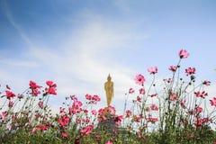 Εικόνα του Βούδα με τον ουρανό ομορφιάς στοκ εικόνες