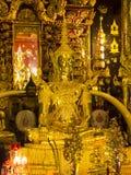 Εικόνα του Βούδα στο ναό της Ταϊλάνδης Στοκ Εικόνα