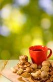 Εικόνα του καφέ και των καρυδιών Στοκ φωτογραφία με δικαίωμα ελεύθερης χρήσης