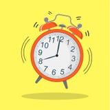 Εικόνα του κόκκινου ξυπνητηριού, διανυσματική απεικόνιση