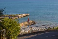Εικόνα του μέρους Castiglione Della Pescaia τουριστών στην Ιταλία με το α Στοκ Φωτογραφίες
