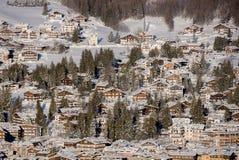 Εικόνα του πόλης κέντρου Cortina Δ ` Ampezzo, Ιταλία στοκ εικόνες