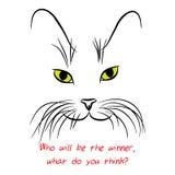 Εικόνα του ρύγχους γατών με τα μακριά μουστάκια επίσης corel σύρετε το διάνυσμα απεικόνισης Στοκ φωτογραφία με δικαίωμα ελεύθερης χρήσης