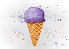Εικόνα του συρμένου παγωτού στοκ φωτογραφία με δικαίωμα ελεύθερης χρήσης