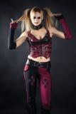 Εικόνα του τρελλού ένα harlequin Στοκ Φωτογραφίες