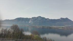 εικόνα του φεγγαριού Αυστρία λιμνών Στοκ Φωτογραφία