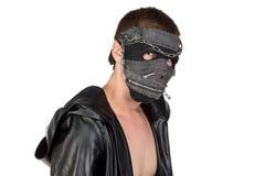 Εικόνα του brunet ατόμου στη μάσκα Στοκ Φωτογραφίες