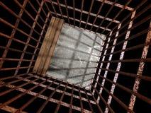 Εικόνα τρισδιάστατη της φυλακής μετάλλων στοκ φωτογραφίες με δικαίωμα ελεύθερης χρήσης