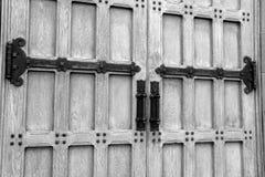 Εικόνα των εντυπωσιακών πορτών με το επιμελημένο υλικό Στοκ Εικόνες