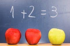 Apple και μαθηματικά Στοκ εικόνα με δικαίωμα ελεύθερης χρήσης