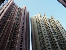 Εικόνα των πολλών πολυώροφων κτιρίων χαρακτηριστικών στο Χονγκ Κονγκ στοκ εικόνες
