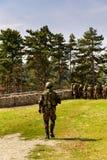 Εικόνα των στρατιωτών στη δράση Στοκ Εικόνες