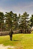 Εικόνα των στρατιωτών στη δράση Στοκ φωτογραφία με δικαίωμα ελεύθερης χρήσης