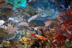 Εικόνα υποβάθρου της φωτεινής παλέτας λάδι-χρωμάτων Στοκ εικόνα με δικαίωμα ελεύθερης χρήσης