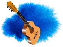Εικόνα χρώματος της ακουστικής κιθάρας Στοκ Εικόνες