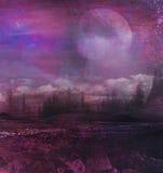 Εικόνα Grunge του τοπίου φεγγαριών Στοκ φωτογραφία με δικαίωμα ελεύθερης χρήσης