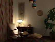 Εικόνα midcentury του σπιτιού Στοκ φωτογραφία με δικαίωμα ελεύθερης χρήσης