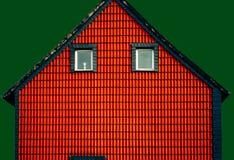 Εικόνα Minimalistic της πρόσοψης του σπιτιού στοκ εικόνες