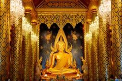 Εικόνα Phuttha Chinnarat Βούδας Phra στο ναό Si Rattana Mahathat Wat Phra σε Phitsanulok, Ταϊλάνδη Στοκ Φωτογραφία