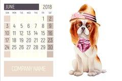 Εικόνα watercolor σκυλιών ελεύθερη απεικόνιση δικαιώματος