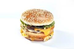 Εικόνες για το χάμπουργκερ με το τυρί Στοκ Φωτογραφίες