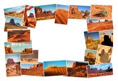 Εικόνες κολάζ της κοιλάδας μνημείων, Αριζόνα, ΗΠΑ Στοκ Εικόνα