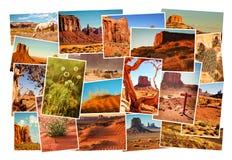 Εικόνες κολάζ της κοιλάδας μνημείων, Αριζόνα, ΗΠΑ Στοκ φωτογραφία με δικαίωμα ελεύθερης χρήσης
