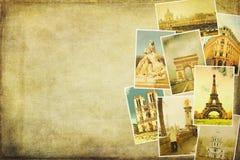 Εικόνες κολάζ του Παρισιού Στοκ φωτογραφία με δικαίωμα ελεύθερης χρήσης