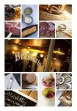 Εικόνες σε ένα κολάζ bistro Στοκ Εικόνες