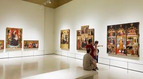 Εικόνες στη μεσαιωνική γοτθική αίθουσα τέχνης ύφους Στοκ Φωτογραφίες